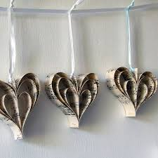 Music Decor by Handmade Sheet Music Heart Decoration By Made In Words