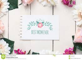 mothers day card messages mothers day card with message best mom ever stock photo image