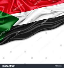 Old Sudan Flag Sudan Flag Silk White Background Stock Illustration 284400197
