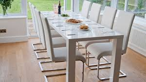 Dining Room Sets White Chair Dining Table And 10 Chairs Ciov