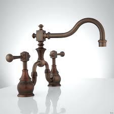 443910 Wall Mount Bathroom Faucet Lever Handles Antique Copper Side2 Copper Bathroom Fixtures