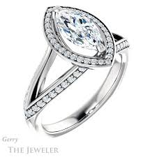 marquise cut engagement rings marquise cut engagement ring setting gtj1221 marquise w gerry