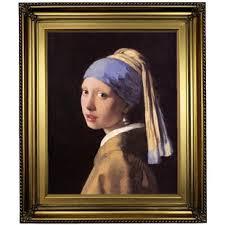 vermeer the girl with the pearl earring painting johannes vermeer framed you ll wayfair