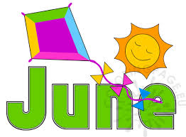 summer month june image coloring page