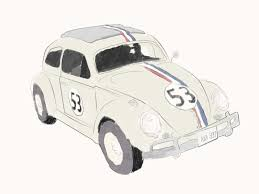 cartoon sports car side view how to draw herbie the love bug 5 steps with pictures wikihow