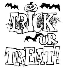 hallowen coloring pages trick or treat on halloween day coloring page netart