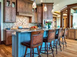 rustic tuscan kitchen design granite countertop rough stone wooden