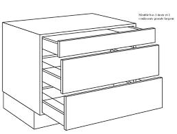 meuble cuisine 120 cm casserolier de cuisine 1 tiroir 2 coulissants largeur 120cm
