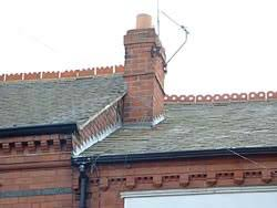 roofs of terraced houses in leicester