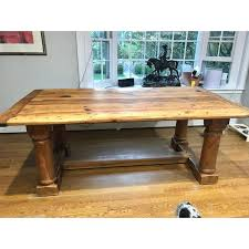 ralph lauren darby pine dining table chairish