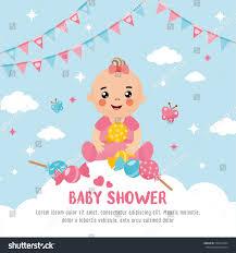 baby shower card cute baby cloud stock vector 558312994 shutterstock