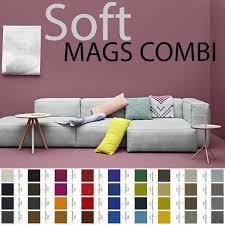 hay canap mags sofa mit umgekehrten nähte kombinationen gewebe