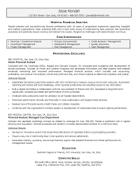 Sample Business Analyst Resume by Sample Financial Analyst Resume Sample Resume Format