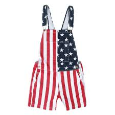 Can You Wear The American Flag As Clothing Chubberall Chubbies Men U0027s Usa American Flag Overall Shorts