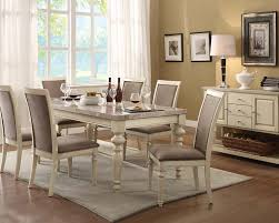 beautiful white kitchen table set furniture of america lumina