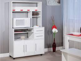 vente unique cuisine desserte de cuisine sur roulettes astrid ou blanc