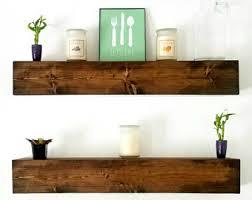Wood Kitchen Shelves by Wood Floating Shelf Etsy
