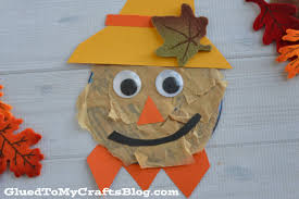 recycled cd scarecrow kid craft