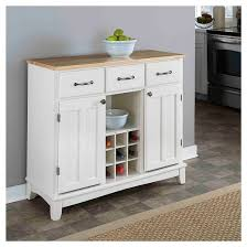 hutch style buffet wood white natural home styles target