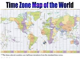 Printable World Map United States Map Time Zones Printable World Map Of Time Zones