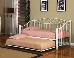 daybed white metal finished daybed with pull out trundle