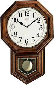 Grande Horloge Murale Carrée En Bois Vintage Achat Horloge Murale Entourage Bois à Balancier Horloge Murale 1001