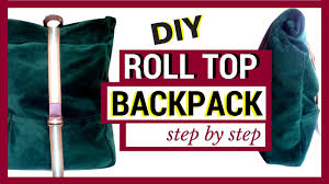 diy roll top backpack whipping post style becky u0027s diy