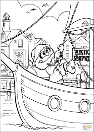 animal on the boat at mystic seaport coloring page free
