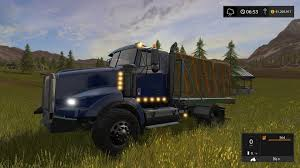 kenworth bed truck fs17 kenworth flatbed v1 farming simulator 2017 2015 15 17