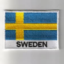 Swidish Flag Embroidered Patches Country Flag Sweden Patches Iron On Badges