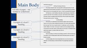 writing apa style paper apa style main body and in text citations youtube apa style main body and in text citations cuw writing center