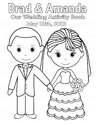 printable wedding coloring pages kids