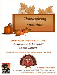 avon park library thanksgiving storytime heartland library