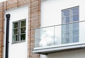 glas balkon balcony with panels glass easy glass q railing europe