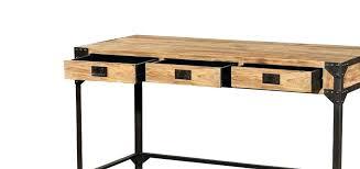 table bureau bois bureau metal et bois womel co