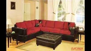 Sectional Sofa Pillows by 2 Pc Red Microfiber Two Tone Reversible Sectional Sofa With Free