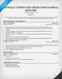 Computer Operator Resume Sample by Resume For Computer Operator Contegri Com