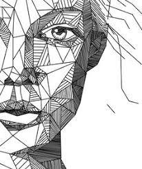 geometric portrait art print for sale on society6 portraits