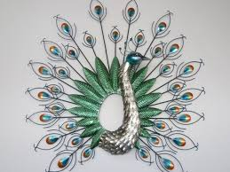 wall art design ideas nice wings peacock metal wall art adorable