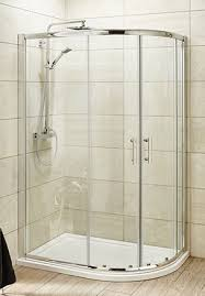 Pacific Shower Doors Pacific Offset Quadrant Shower Enclosure In 4 Sizes