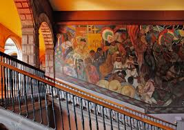 antiguo colegio de san ildefonso world monuments fund murals adorn the wall of a staircase on the second floor of the antiguo colegio de