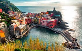 Italy Houses Italy Vernazza Colorful Houses Wallpaper