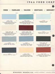 paint chips 1966 fairlane falcon mustang mercury comet cougar