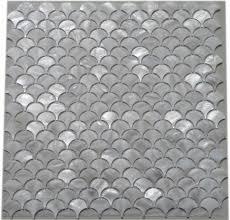 amazon com 11pcs white fish scale freshwater shell mosaic tile