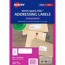 Avery 60 Labels Per Sheet Template Avery Laser Address Labels White 100 Sheets 33 Per Page Officeworks