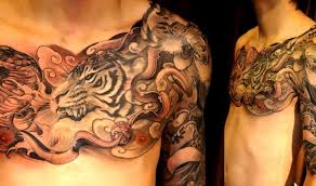 tiger chest and arm sleeve credit chronic ink shop