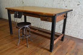 Drafting Table Antique Large Industrial Hamilton Drafting Table Antique Mid Century