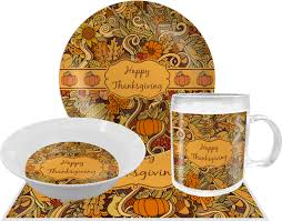 thanksgiving dinner plates dinnerware thanksgiving melamine plate personalized youcustomizeit