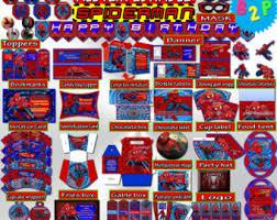 spiderman decoration etsy
