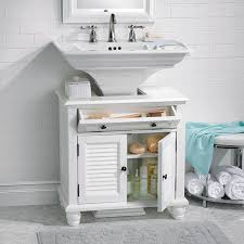 bathroom pedestal sink cabinet newport louvered pedestal sink cabinet improvements